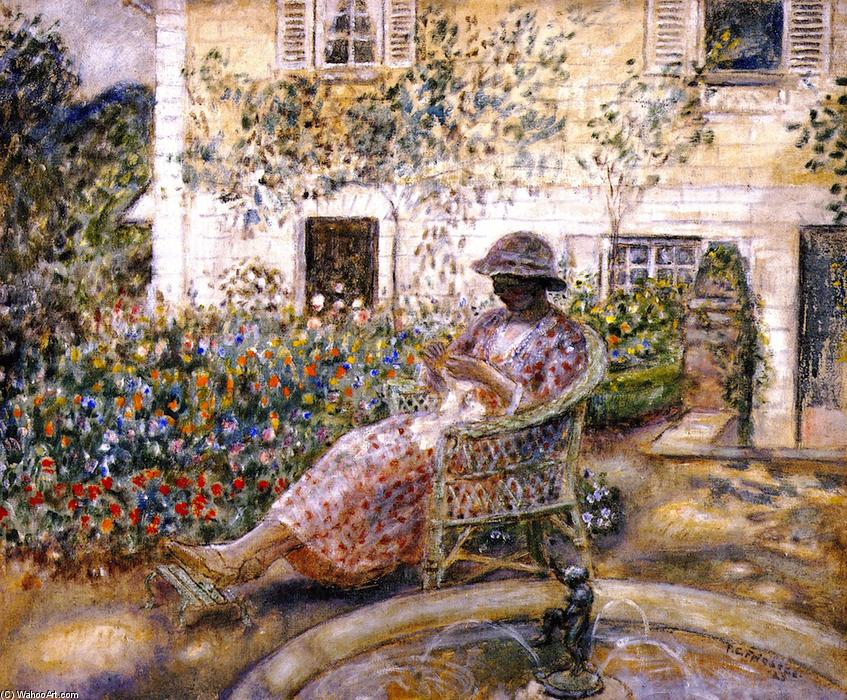 famous painting The Fountain of Frederick Carl Frieseke