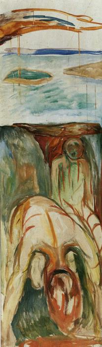 famous painting Fragment of War (also known as The Storm) of Edvard Munch
