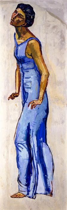 famous painting Gaze into Infinity (study) of Ferdinand Hodler