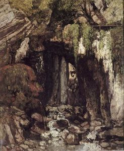 Gustave Courbet - The Giants Cave from Saillon (Switzerland)