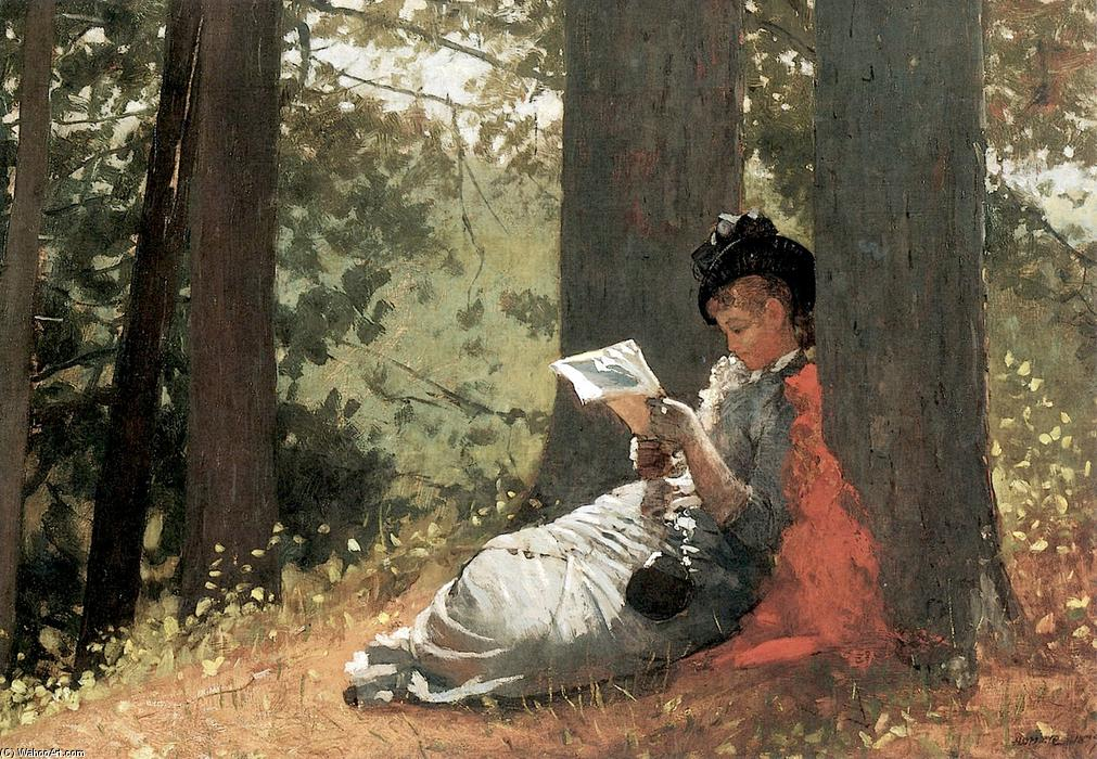 famous painting Girl Reading under an Oak Tree of Winslow Homer