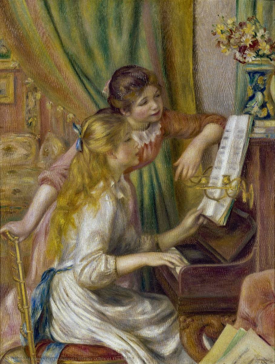 Order Museum Quality Copies | Girls at the Piano by Pierre-Auguste Renoir | AllPaintingsStore.com