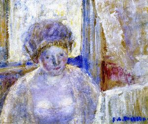 Frederick Carl Frieseke - Girl with Earrings (study)
