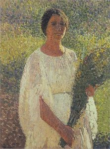 Henri Jean Guillaume Martin - Girl with Flowers