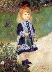 Pierre-Auguste Renoir - Girl with a Watering Can