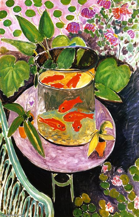 famous painting Goldfish of Henri Matisse