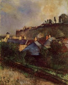 Edgar Degas - Houses at the Foot of a Cliff (also known as Saint-Valery-sur-Somme)