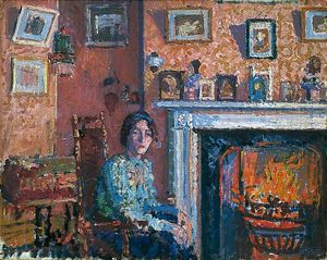 Spencer Frederick Gore - Interior, Mornington Crescent