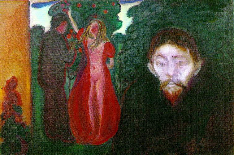 famous painting Jealousy of Edvard Munch