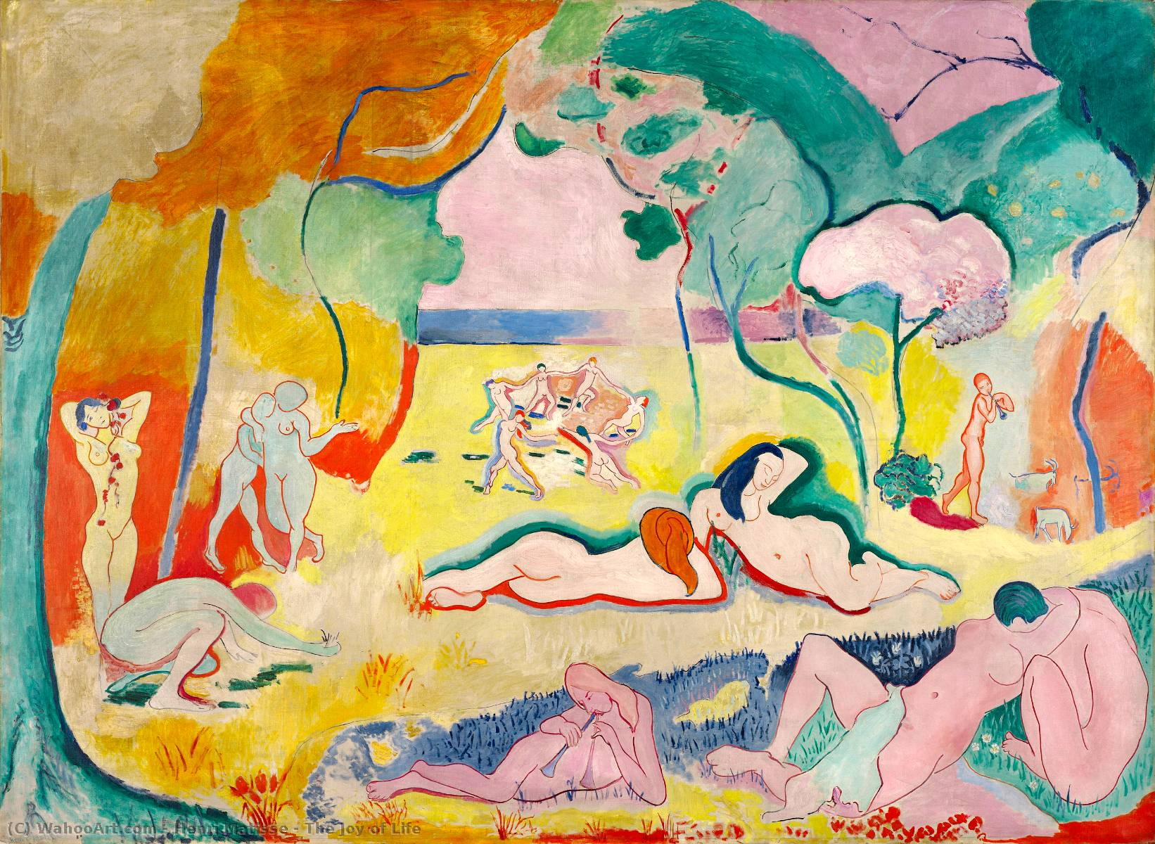 famous painting The Joy of Life of Henri Matisse