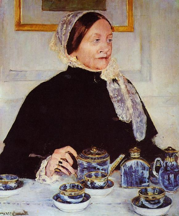 famous painting Lady at the Tea Table of Mary Stevenson Cassatt