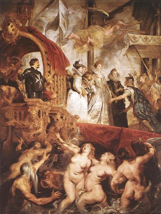 famous painting The Landing of Marie de Medici at Marseilles of Peter Paul Rubens