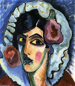 Alexej Georgewitsch Von Jawlensky - Large Head of a Woman (also known as Manola)