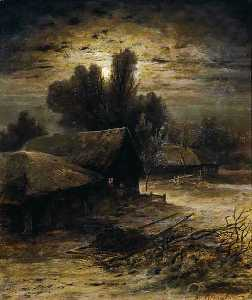 Aleksey Savrasov - Winter Night