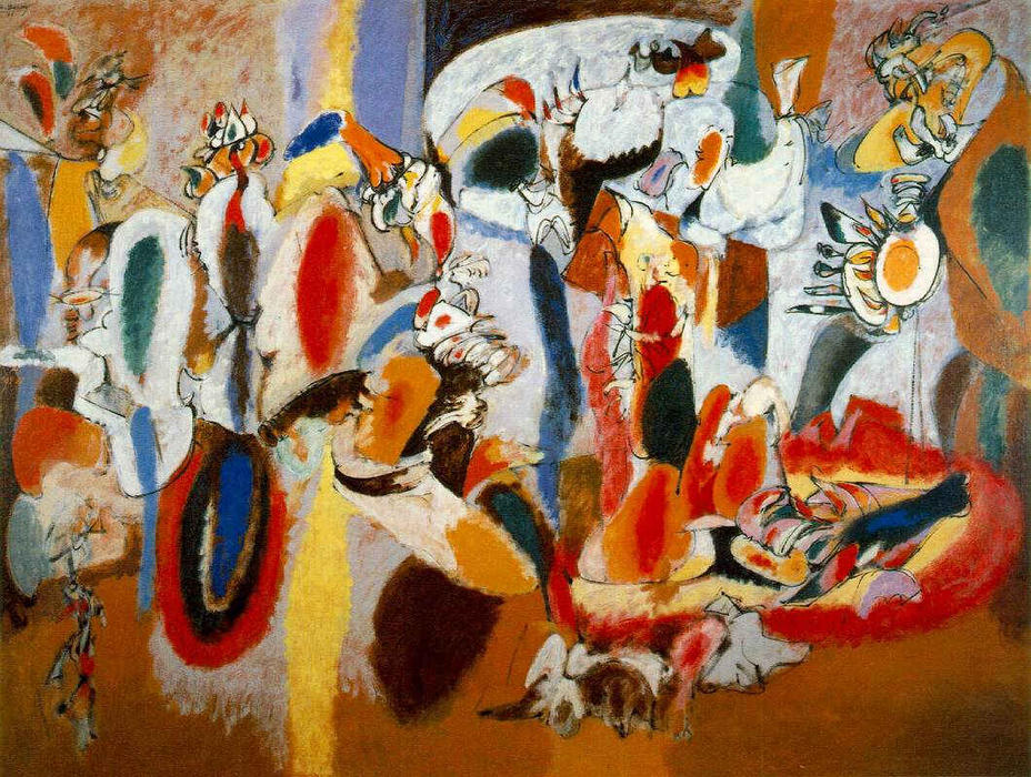 famous painting The Liver is the Cock's Comb of Arshile Gorky