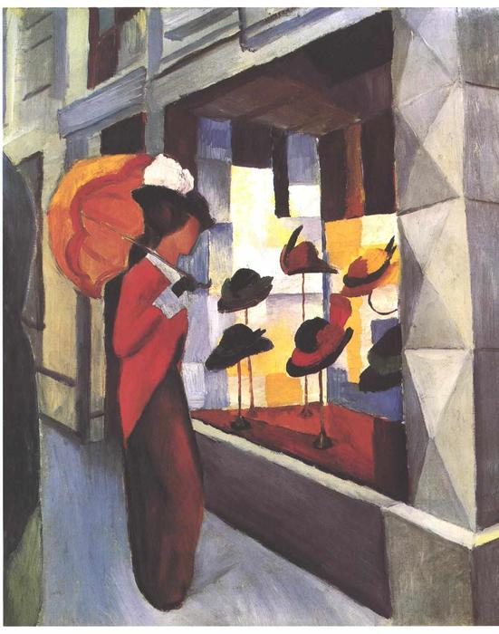 famous painting The Hat Shop of August Macke