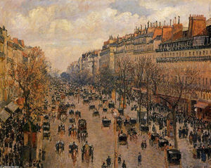 Camille Pissarro - Boulevard Montmartre Afternoon, Sunlight