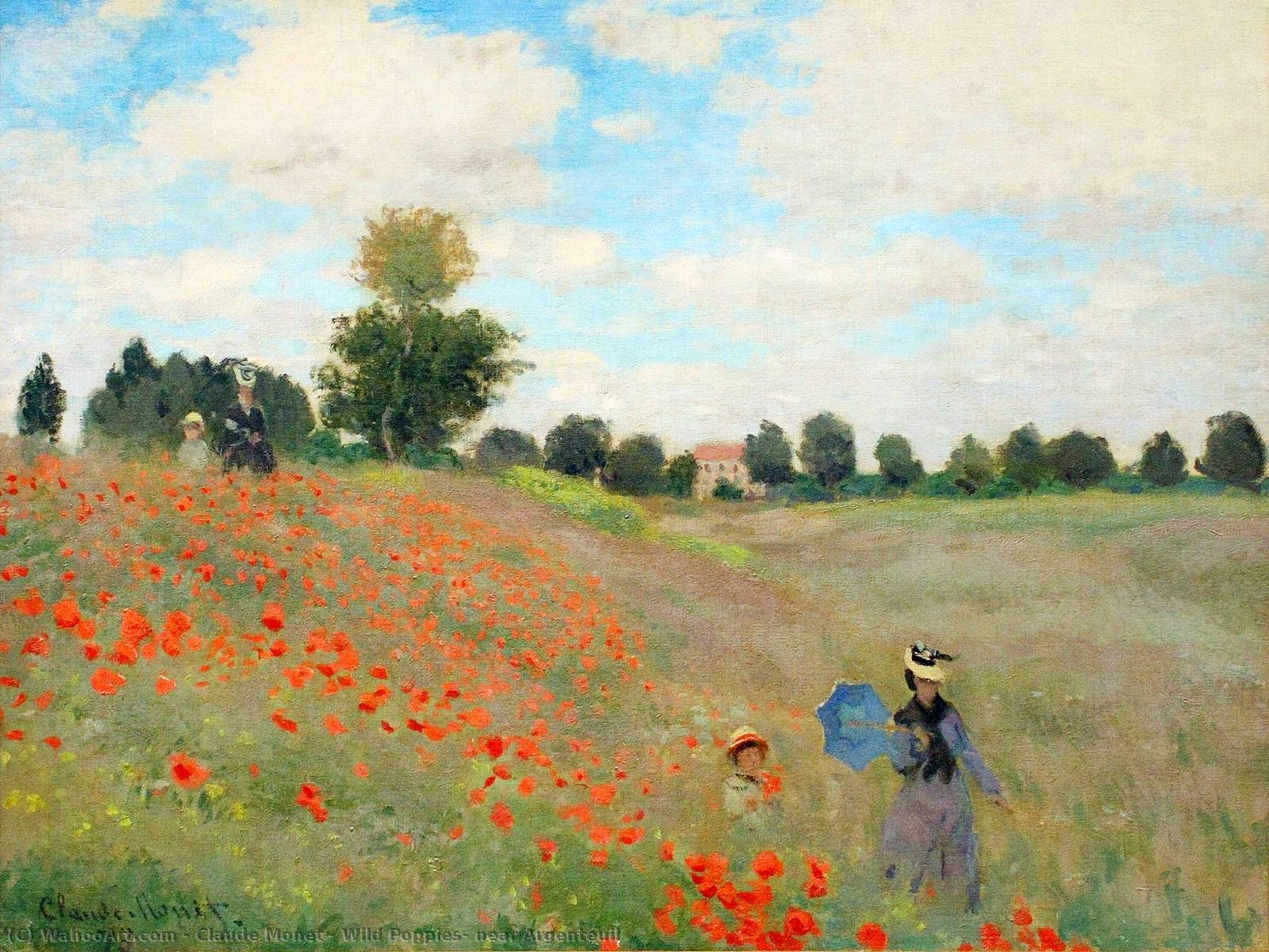 Order Art Reproductions | Wild Poppies, near Argenteuil by Claude Monet | AllPaintingsStore.com