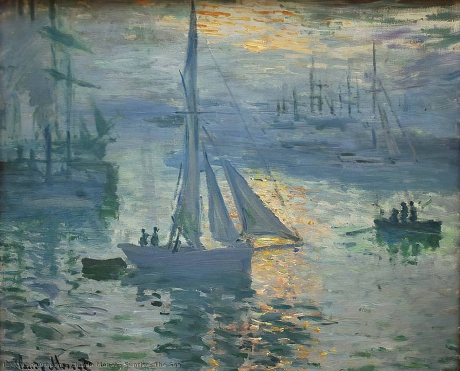 famous painting Sunrise, The Sea of Claude Monet