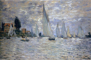 Claude Monet - The Boats Regatta at Argenteuil