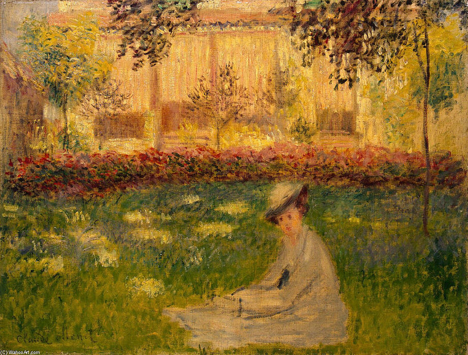 famous painting Woman in a Garden of Claude Monet