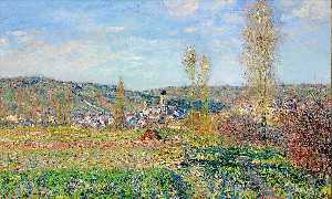Claude Monet - Vetheuil under the Sun