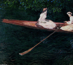 Claude Monet - The Pink Skiff, Boating on the Ept