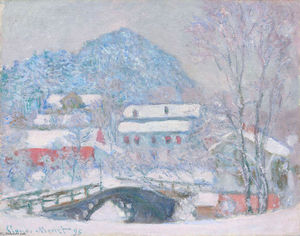 Claude Monet - Norway, Sandviken Village in the Snow
