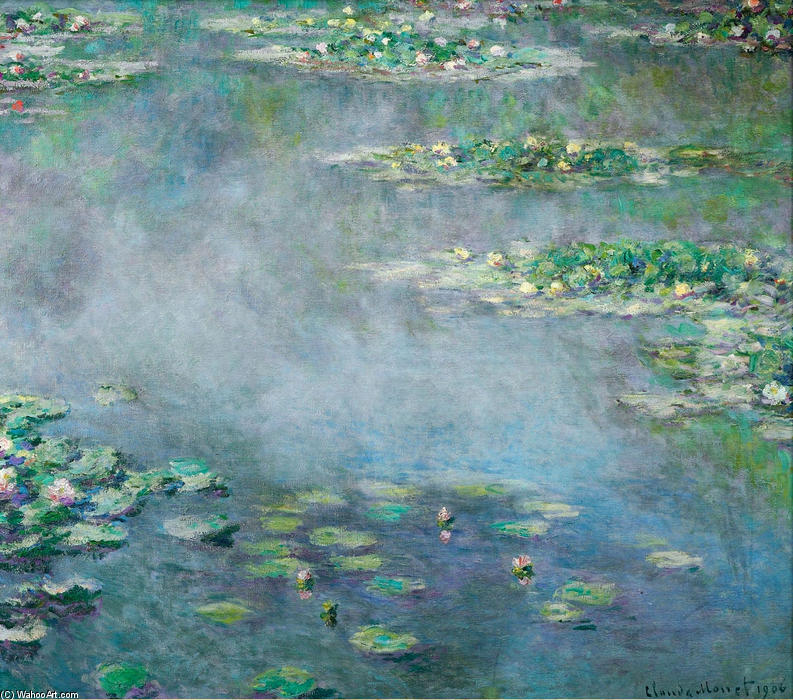 famous painting Water Lilies (18) of Claude Monet