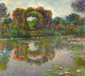 Claude Monet - Rose Flowered Arches at Giverny