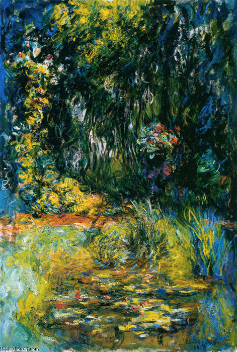 famous painting Water Lily Pond of Claude Monet
