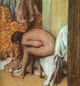 Edgar Degas - After the Bath (Woman Drying her feet)