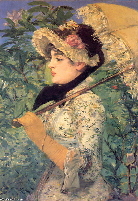 famous painting Spring (Study of Jeanne Demarsy) of Edouard Manet