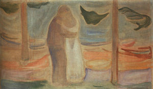 Edvard Munch - Couple on the Shore (from the Reinhardt Frieze)