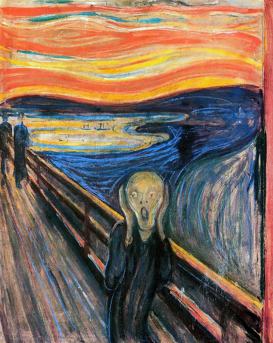 famous painting The Scream of Edvard Munch