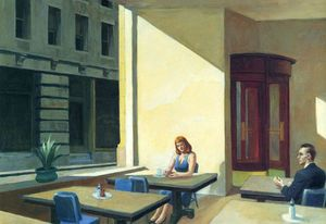Edward Hopper - Sunlights in Cafeteria