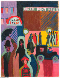 Ernst Ludwig Kirchner - Store in the Rain