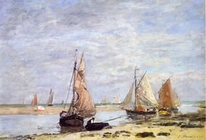 Eugène Louis Boudin - Sailboats near Trouville