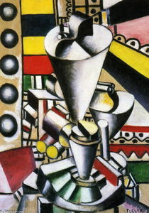 Fernand Leger - Still life in the machine elements