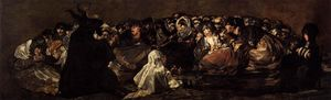 Francisco De Goya - The Great He-Goat Or Witches Sabbath