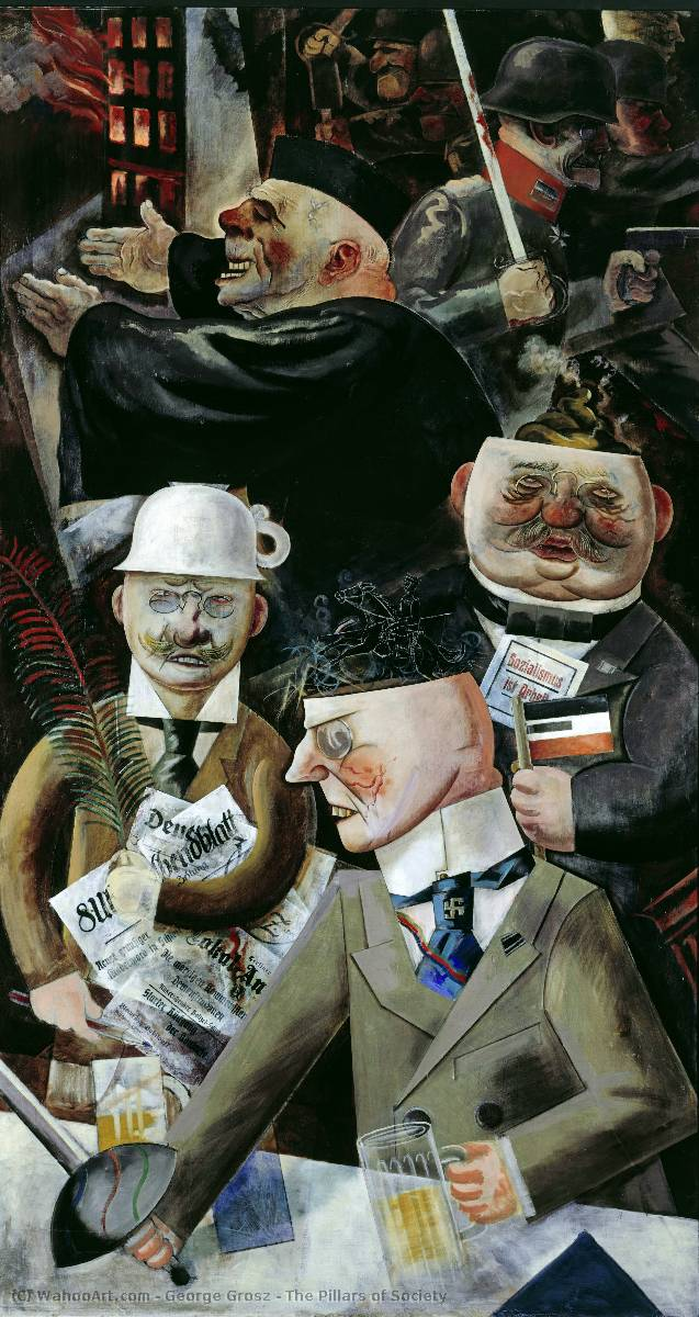 famous painting The Pillars of Society of George Grosz