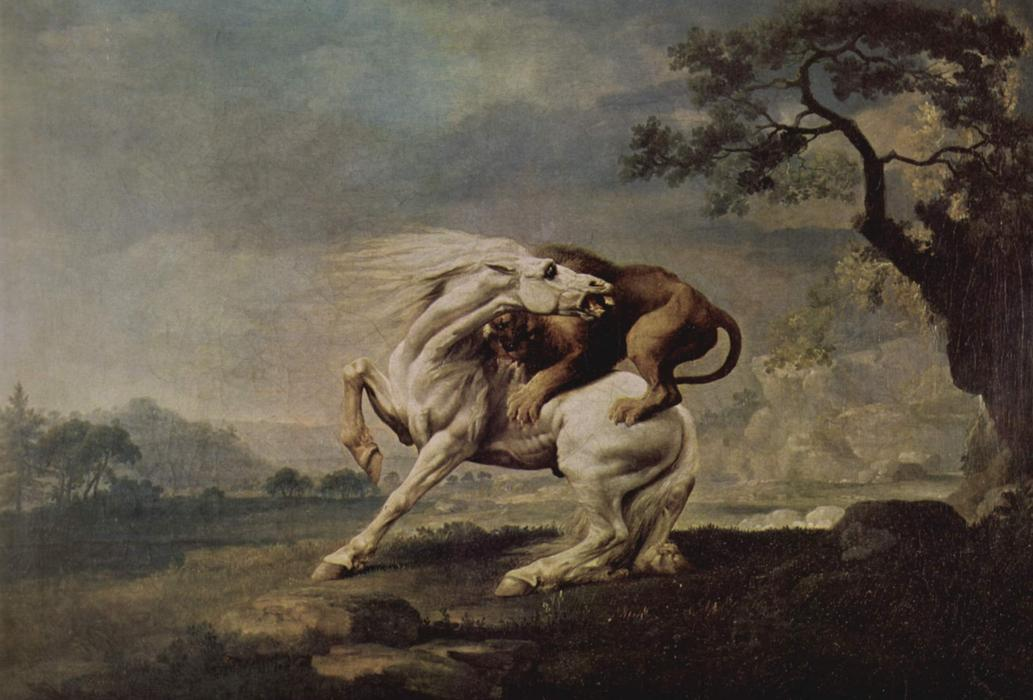 famous painting Lion Attacking a Horse of George Stubbs