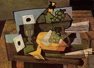 Georges Braque - Still life (with clarinet)