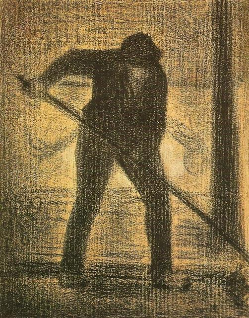 famous painting The Garbage Picker of Georges Pierre Seurat
