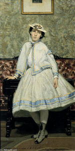 Giovanni Boldini - Portrait of Alaide Banti in White Dress