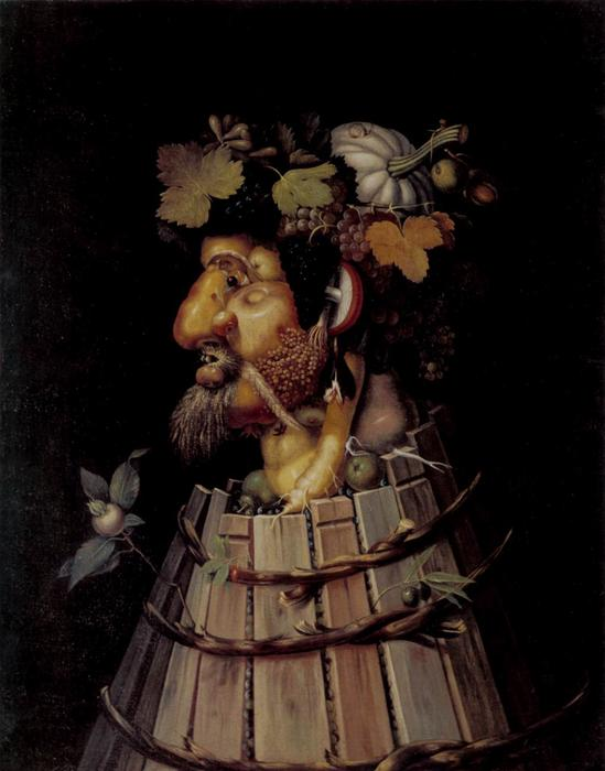 famous painting Autumn of Giuseppe Arcimboldo
