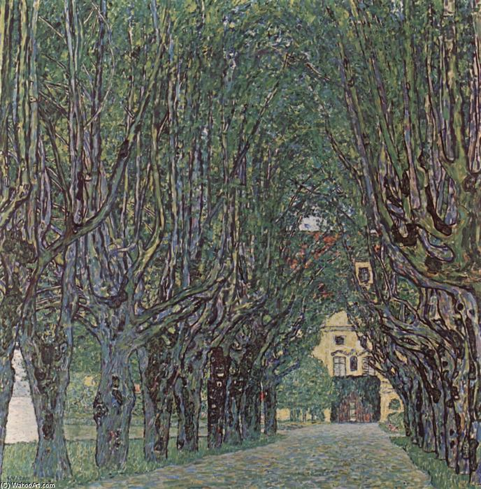 famous painting Avenue of Schloss Kammer Park of Gustav Klimt