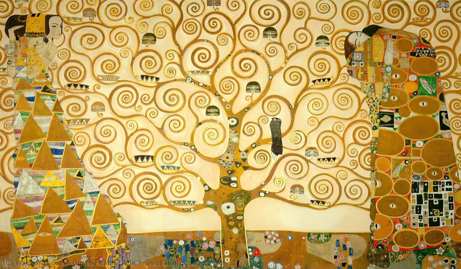 famous painting The Tree of Life, Stoclet Frieze of Gustav Klimt