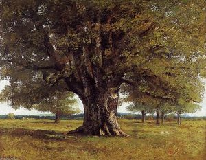 Gustave Courbet - The Oak of Flagey (The Oak of Vercingetorix)