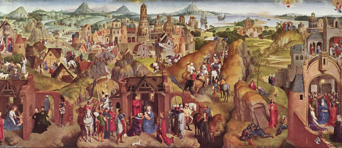 Order Reproductions | Scenes from the life of Mary by Hans Memling | AllPaintingsStore.com